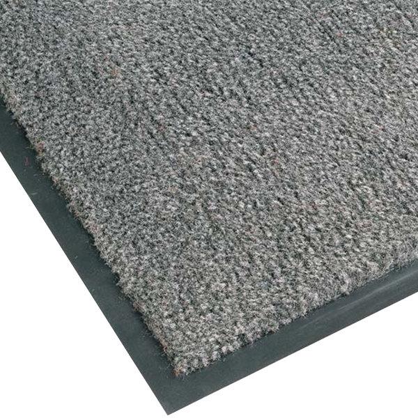 "Teknor Apex NoTrax T37 Atlantic Olefin 434-325 3' x 6' Gunmetal Carpet Entrance Floor Mat - 3/8"" Thick"