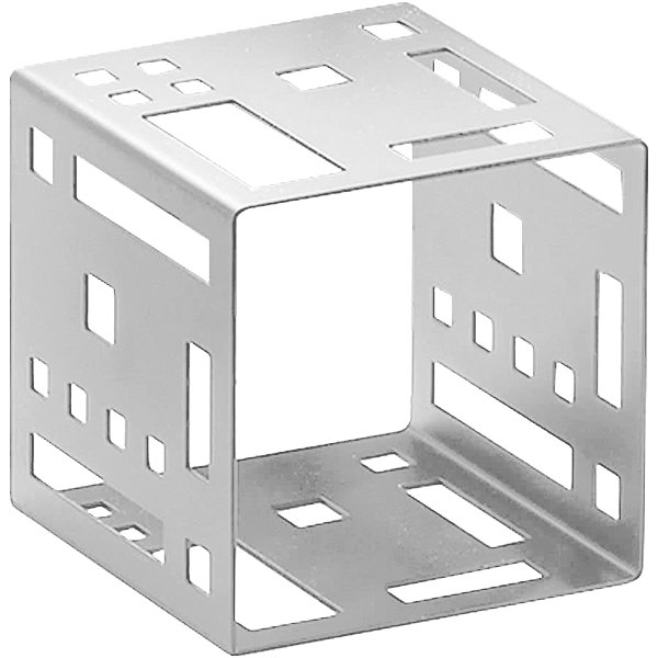 """Cal-Mil 1607-7-55 7"""" Stainless Steel Squared Cube Riser"""
