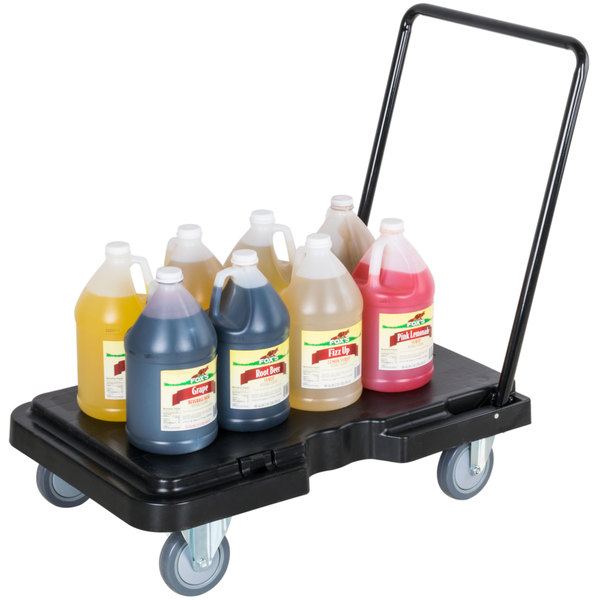 "Lavex Janitorial 32"" x 20 1/2"" Adjustable Handle Dolly - 800 lb. Capacity"