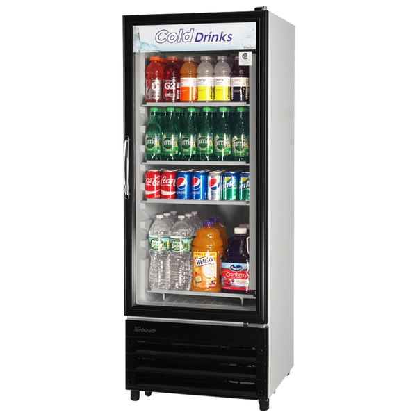 Turbo Air TGM-11RV White Single Glass Door Merchandising Refrigerator