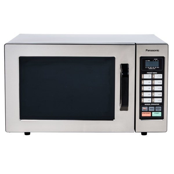 Panasonic NE-1054F Stainless Steel Commercial Microwave Oven - 120V, 1000W Main Image 1