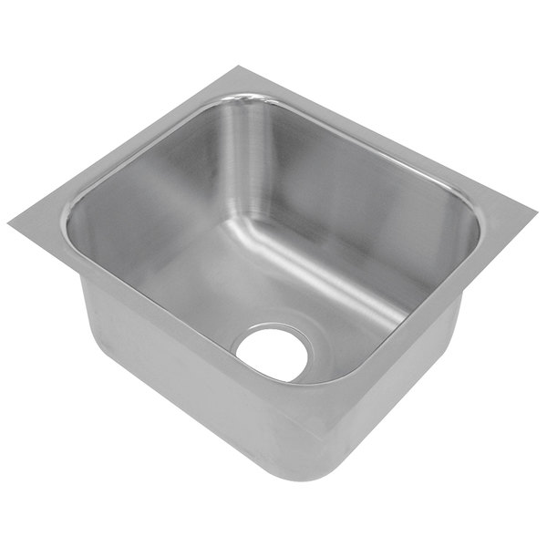 """Advance Tabco 2424A-14A 1 Compartment Undermount Sink Bowl 24"""" x 24"""" x 14"""" Main Image 1"""
