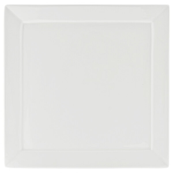 10 Strawberry Street WEL-5SQ Whittier Elite 5 inch White Square Porcelain Bread and Butter Plate  - 12/Case