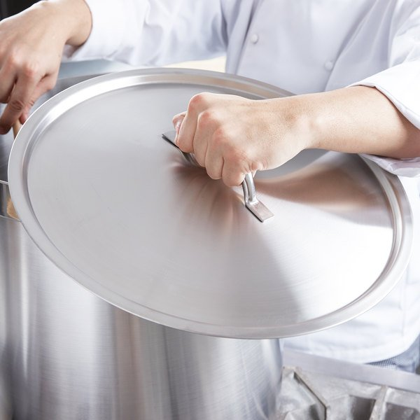 """Vollrath 3715C Centurion 15 3/4"""" Stainless Steel Domed Cover"""