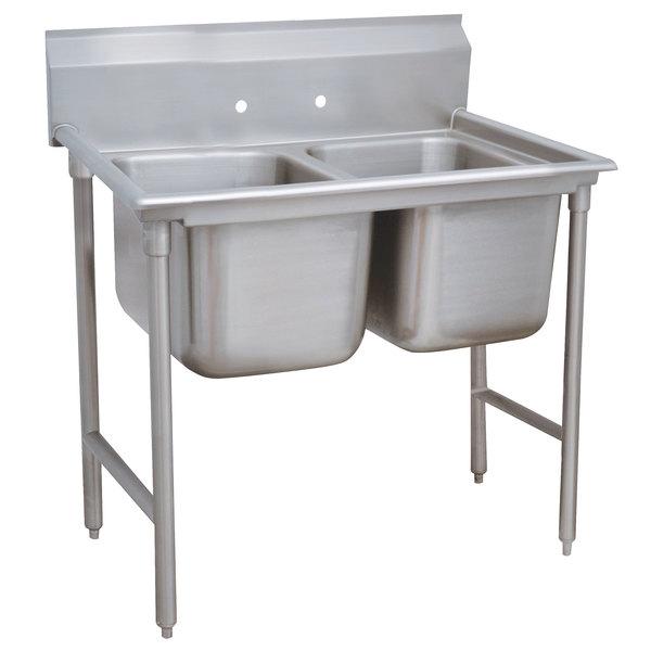 "Advance Tabco 9-62-36 Super Saver Two Compartment Pot Sink - 48"""