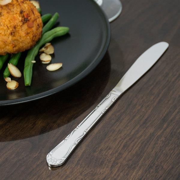 """Claridge Flatware 8 1/2"""" Stainless Steel Dinner Knife - 12/Case Main Image 6"""