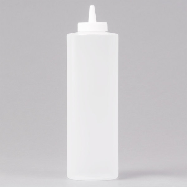 24 oz. Clear Squeeze Bottle - 6/Pack