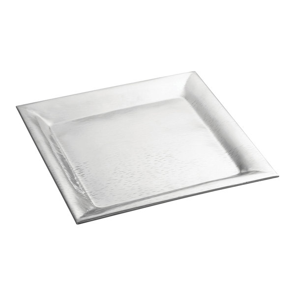 """Tablecraft R2222 Remington 22"""" x 22"""" Square Stainless Steel Tray"""