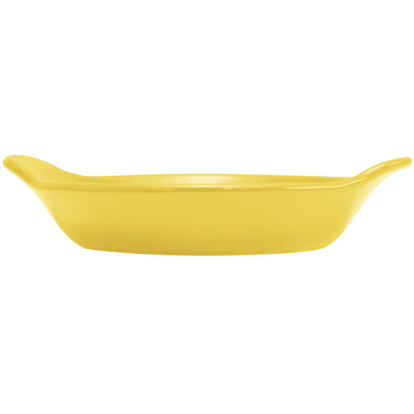 Hall China 30434320 Sunflower 12 oz. Colorations Round Au Gratin Baking Dish - 24/Case