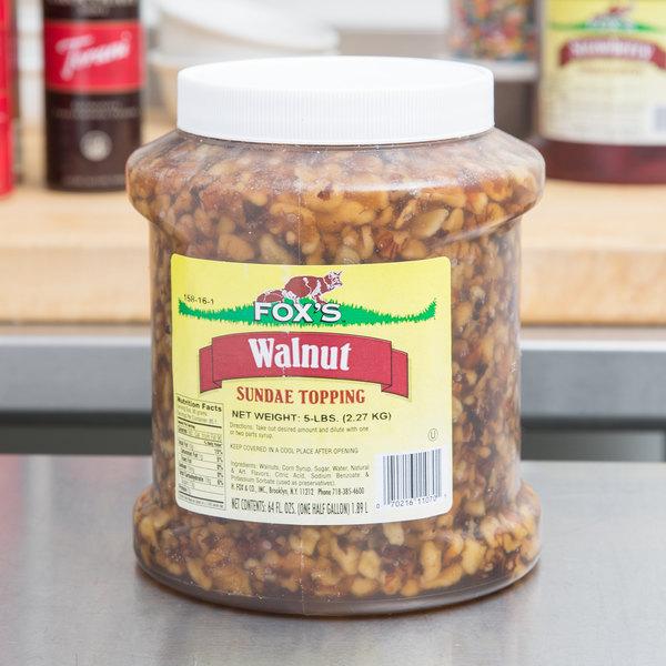 Fox's Walnut Ice Cream Topping - 1/2 Gallon Container