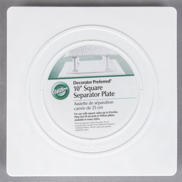 "Wilton 302-1803 Decorator Preferred Square Smooth Edge Cake Separator Plate - 10"""