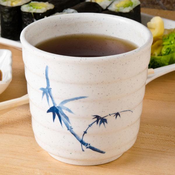 Thunder Group 9302BB Blue Bamboo 11 oz. Melamine Tea Cup - 12/Case Main Image 6