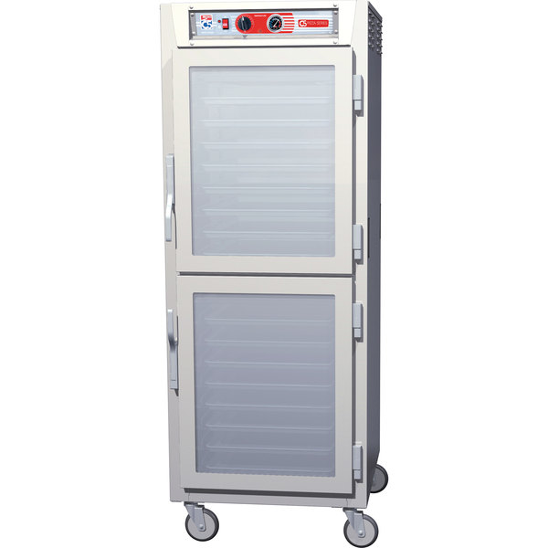 Metro C5Z69-NDC-U C5 Pizza Series Insulated Heated Holding Cabinet - Full Size with Clear Dutch Doors 120V