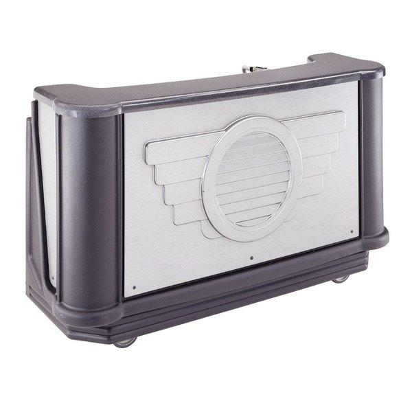 "Cambro BAR730DSDX667 Deluxe Designer Series Manhattan Cambar 78"" Portable Bar Pre-Mix System with 7 Bottle Speed Rail, Cold Plate, and Soda Gun"