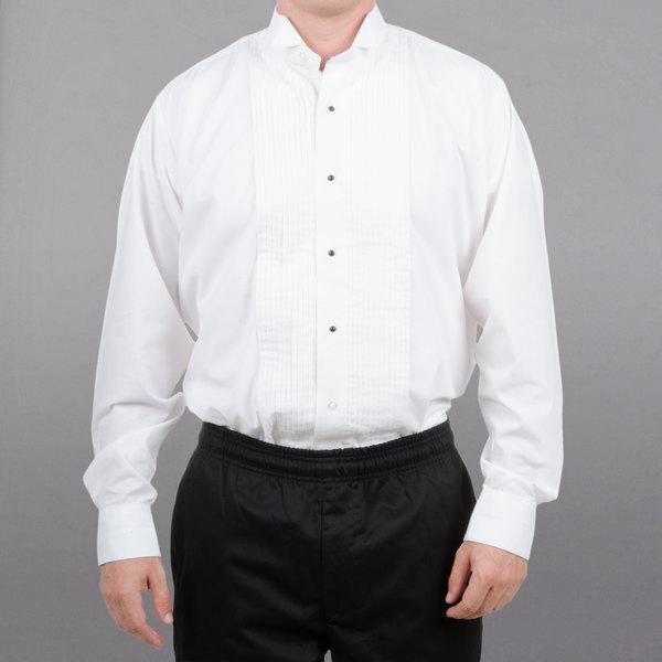 Henry Segal 8301WH-XL35 Server Tuxedo Shirt - Men's White Extra Large