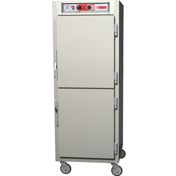 Metro C5Z69-SDS-S C5 Pizza Series Insulated Heated Holding Cabinet - Full Size with Solid Dutch Doors 120V