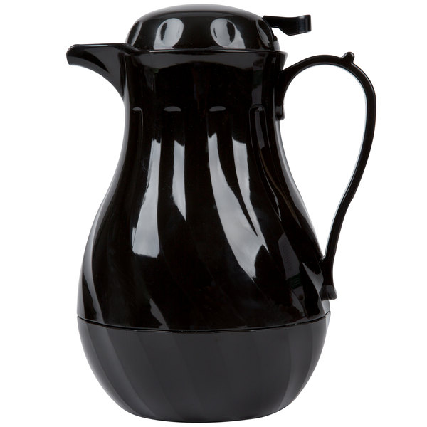 1.9 Liter Swirl Black Thermal Beverage Server