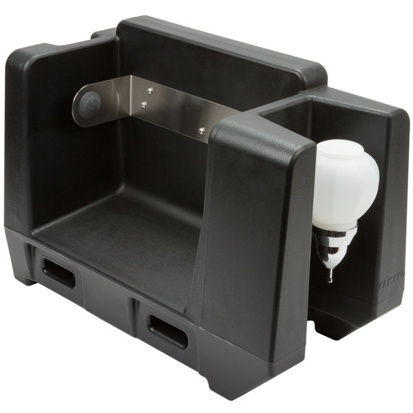 Cambro HWAPR Black Hand Washing Station - Roll Towel Dispenser Main Image 1