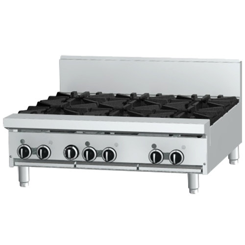 "Garland GF36-4G12T Liquid Propane 4 Burner Modular Top 36"" Gas Range with Flame Failure Protection and 12"" Griddle - 122,000 BTU"