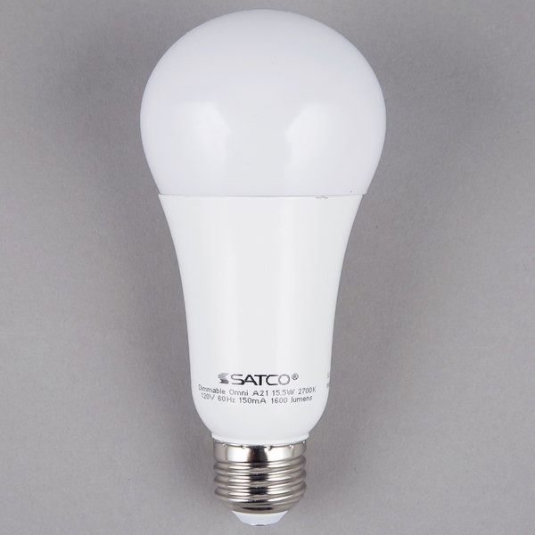 Satco S29815 15 Watt Frosted Warm White Omni-Directional LED Light Bulb - 120V (A21)