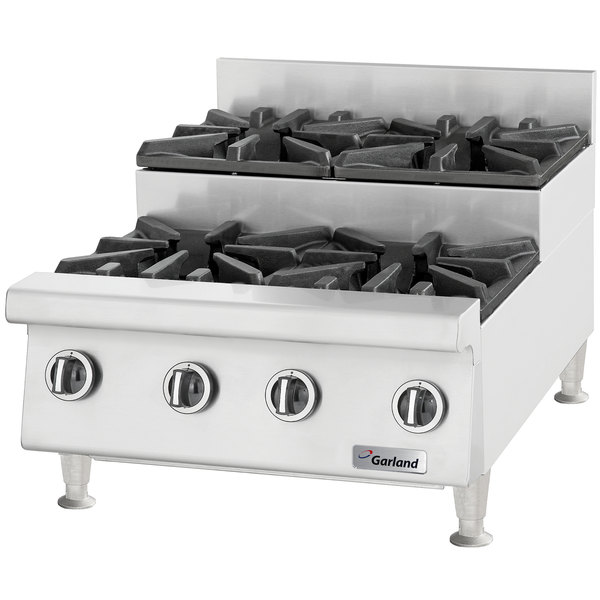 "Garland GTOG36-SU6 Natural Gas 6 Burner 36"" Step-Up Countertop Range - 180,000 BTU Main Image 1"