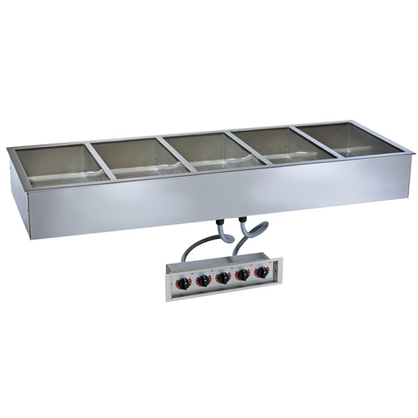 """Alto-Shaam 500-HWILF/D6 5 Pan Drop-In Hot Food Well with Independent Controls and Large Flange - 6"""" Deep Pans, 120V"""