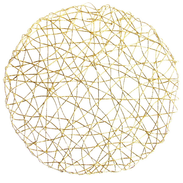 """The Jay Companies 1332564 14 1/2"""" Gold Paper Foil Round Placemat Main Image 1"""