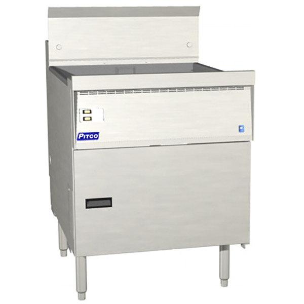 Pitco FBG24-SSTC Liquid Propane 57-87 lb. Flat Bottom Floor Fryer with Solid State Thermostatic Controls - 120,000 BTU