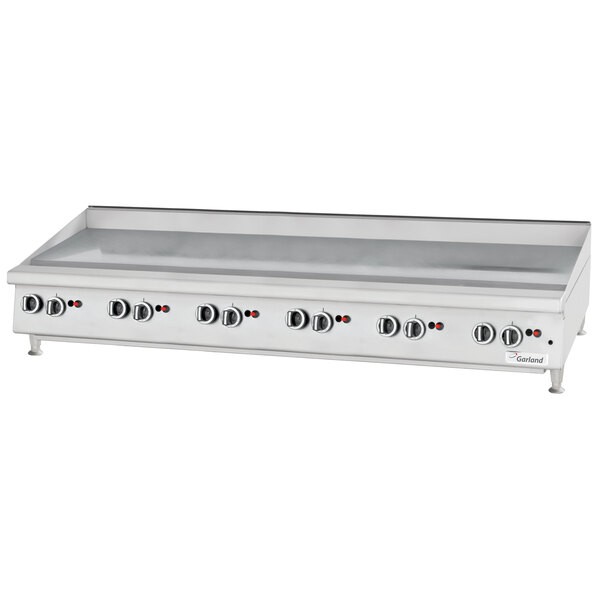 """Garland GTGG72-GT72M Liquid Propane 72"""" Countertop Griddle with Thermostatic Controls - 168,000 BTU Main Image 1"""