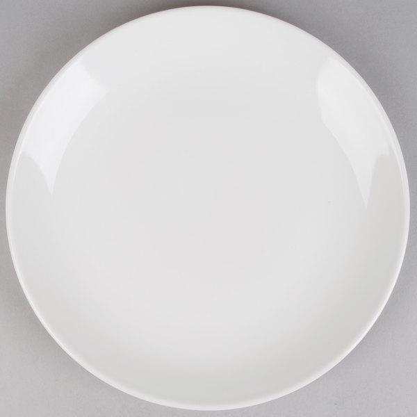 Acopa 12 inch Round Bright White Coupe Stoneware Plate - 12/Case