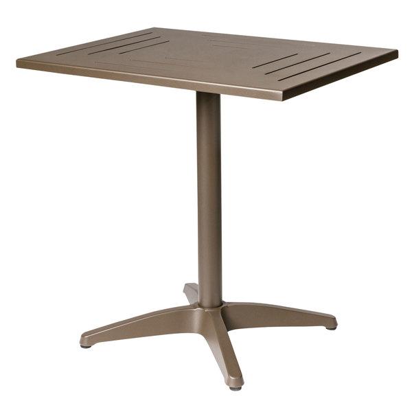 """BFM Seating PHH3636BZ Hampton 36"""" Square Bronze Aluminum Table"""
