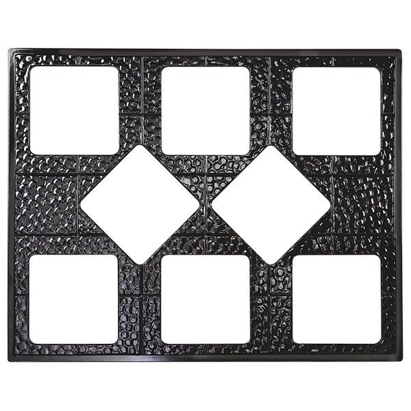 GET ML-175-BK Full Size Black Melamine Adapter Plate with Eight Cut-Outs for GET ML-149 or ML-150 Square Crocks