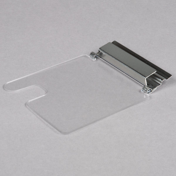 Cal-Mil 1807N Notched Plastic Lid with Stainless Steel Hinge
