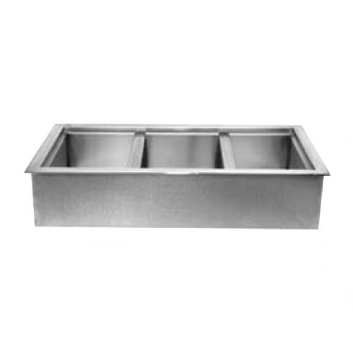 """Wells ICP-600ST 86"""" Six Pan Drop In Ice Cooled Cold Food Well with Slope Top"""