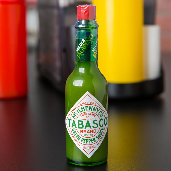 TABASCO® 2 oz. Green Pepper Hot Sauce - 12/Case Main Image 4