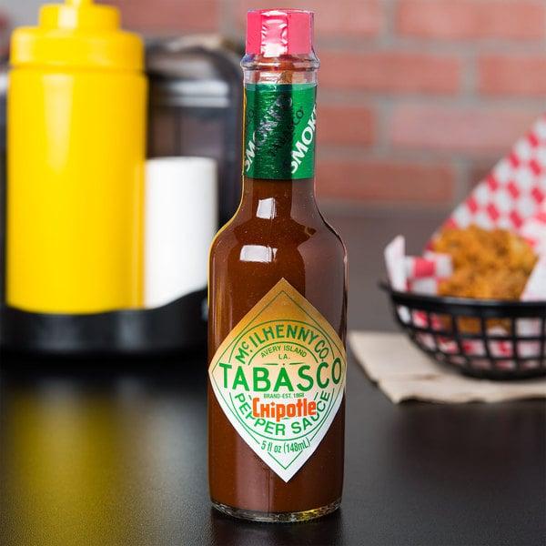 TABASCO® 5 oz. Chipotle Pepper Hot Sauce - 12/Case Main Image 3