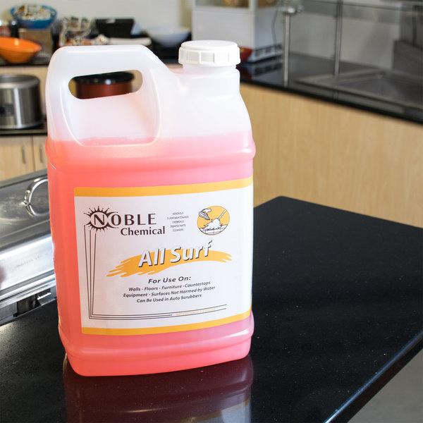 Noble Chemical 2.5 gallon / 320 oz. All Surf All Purpose Liquid Cleaner (Non-Butyl) - Ecolab® 14522 Alternative - 2/Case