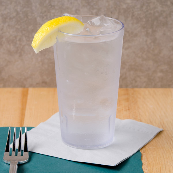 GET 6616-1-6-CL 16 oz. Stackable Clear Textured Tumbler - 72/Case