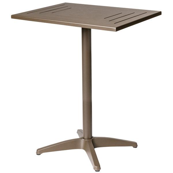 "BFM Seating PHH3232BZT Hampton 32"" Square Bronze Aluminum Bar Height Table"
