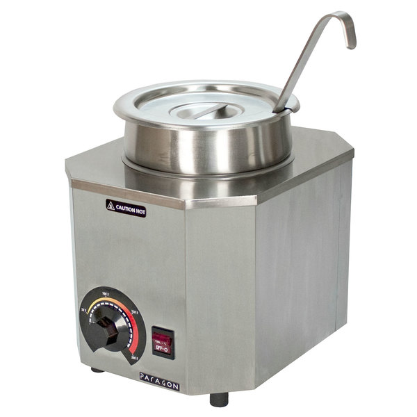 Paragon 2028A Pro-Deluxe 3 Qt. Warmer with Inset, Lid, and Ladle - 120V, 500W