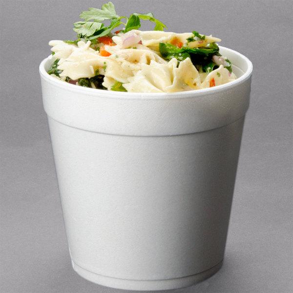 Dart 32MJ48 32 oz. White Foam Food Bowl - 500/Case