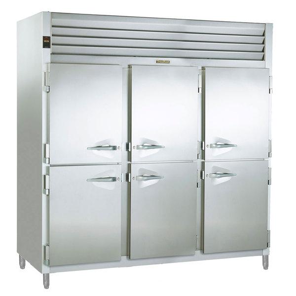 Traulsen RSL332NUT-HHS Stainless Steel 69.5 Cu. Ft. Three Section Half Door Reach In Freezer (-20 Fahrenheit) - Specification Line