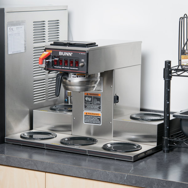 Bunn 13250.0025 CRTF5-35 Automatic Coffee Brewer with 5 Warmers and Stainless Steel Funnel - 120/240V
