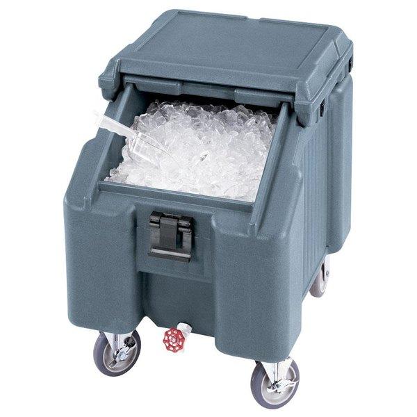 Cambro ICS100L4S401 SlidingLid™ Slate Blue Portable Ice Bin - 100 lb. Capacity
