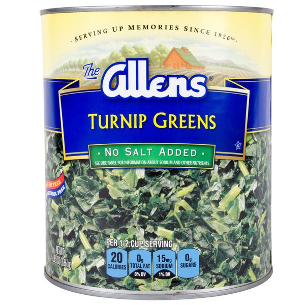 Chopped Turnip Greens - #10 Can - 6/Case