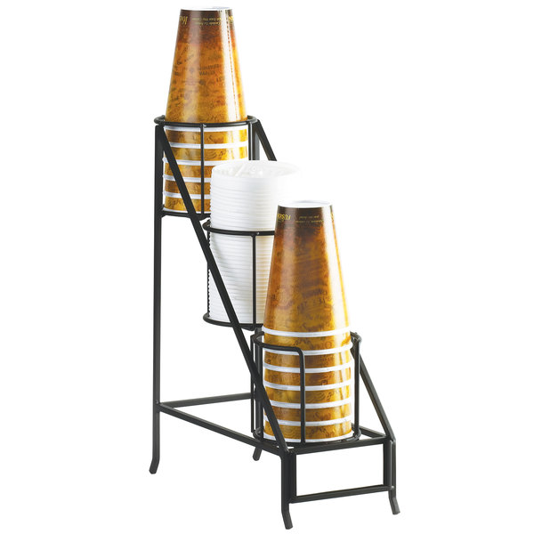 "Cal-Mil 1452 Iron Cup and Lid Display - 5"" x 12"" x 15"""