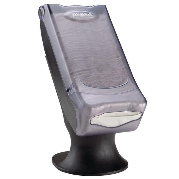 San Jamar H5000SCL Minifold Venue Stand Mount Napkin Dispenser - Clear Main Image 1
