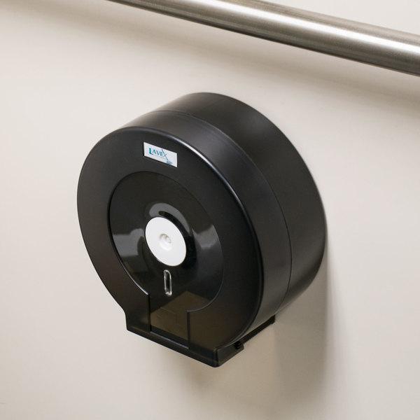 "Lavex Janitorial Jumbo Toilet Tissue Dispenser - Fits 9"" Single Roll"
