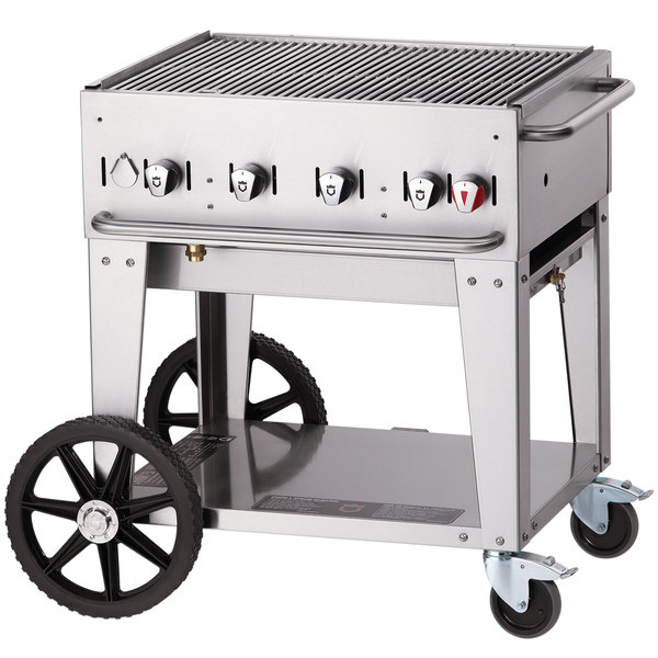 Crown Verity MCB-30 Natural Gas Portable Outdoor BBQ Grill / Charbroiler