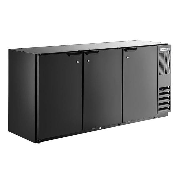 "Beverage-Air BB72HC-1-B 72"" Back Bar Refrigerator with 3 Solid Doors 115V Main Image 1"